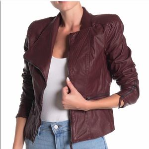 NWT BLANK NYC Faux Leather Fitted Moto Jacket